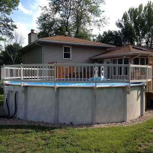 Vinyl Works 24-Inch Taupe Premium Resin Above-Ground Pool Fence