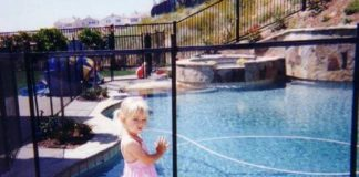 inground pool safety fence